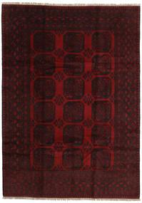 Afghan Rug 200X279 Authentic  Oriental Handknotted Dark Brown/Dark Red (Wool, Afghanistan)