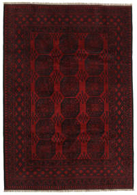 Afghan Rug 200X285 Authentic  Oriental Handknotted Dark Brown/Dark Red (Wool, Afghanistan)