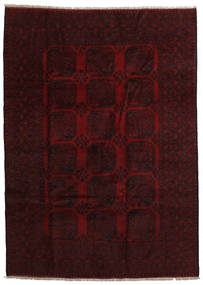 Afghan Rug 201X280 Authentic  Oriental Handknotted Dark Brown/Dark Red (Wool, Afghanistan)
