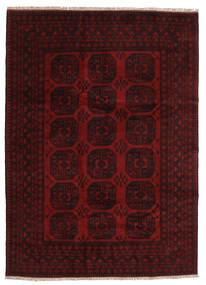 Afghan Matto 201X279 Itämainen Käsinsolmittu Tummanruskea/Tummanpunainen (Villa, Afganistan)