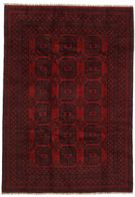 Afghan Rug 197X284 Authentic  Oriental Handknotted Dark Brown/Dark Red (Wool, Afghanistan)