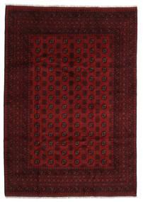 Afghan Rug 207X293 Authentic  Oriental Handknotted Dark Brown/Dark Red (Wool, Afghanistan)