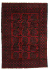 Afghan Rug 197X281 Authentic  Oriental Handknotted Dark Brown/Dark Red (Wool, Afghanistan)
