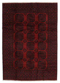 Afgan Dywan 204X288 Orientalny Tkany Ręcznie Ciemnoczerwony (Wełna, Afganistan)