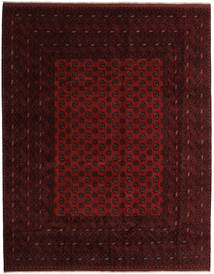Afghan Rug 305X384 Authentic  Oriental Handknotted Dark Brown/Dark Red Large (Wool, Afghanistan)