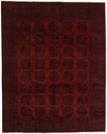 Afghan Rug 307X385 Authentic  Oriental Handknotted Dark Brown/Dark Red Large (Wool, Afghanistan)