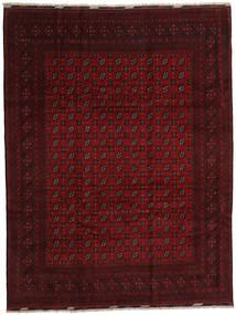 アフガン 絨毯 259X340 オリエンタル 手織り 濃い茶色/深紅色の 大きな (ウール, アフガニスタン)