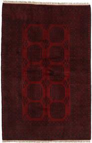 Afghan Matto 157X241 Itämainen Käsinsolmittu Tummanruskea/Tummanpunainen (Villa, Afganistan)