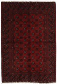 Afghan Matto 160X234 Itämainen Käsinsolmittu Tummanruskea/Tummanpunainen (Villa, Afganistan)