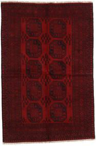Afghan Rug 156X237 Authentic  Oriental Handknotted Dark Red/Dark Brown (Wool, Afghanistan)