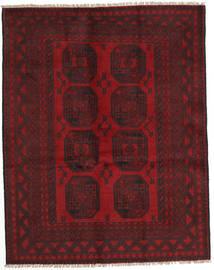 Afghan Rug 150X190 Authentic  Oriental Handknotted Dark Red/Crimson Red (Wool, Afghanistan)