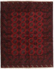 Afghan Teppich  150X190 Echter Orientalischer Handgeknüpfter Dunkelrot (Wolle, Afghanistan)