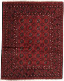 Afghan Rug 151X191 Authentic  Oriental Handknotted Dark Red (Wool, Afghanistan)