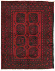 アフガン 絨毯 148X190 オリエンタル 手織り 深紅色の/濃い茶色 (ウール, アフガニスタン)