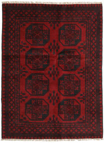 Afghan Rug 145X195 Authentic  Oriental Handknotted Dark Brown/Dark Red (Wool, Afghanistan)