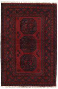 アフガン 絨毯 99X147 オリエンタル 手織り 深紅色の/濃い茶色 (ウール, アフガニスタン)