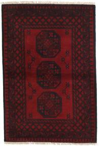 Afghan Matto 102X151 Itämainen Käsinsolmittu Tummanruskea/Tummanpunainen (Villa, Afganistan)