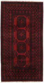 Afghan Rug 101X189 Authentic  Oriental Handknotted Dark Brown/Dark Red (Wool, Afghanistan)