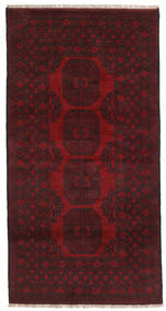 Afghan Alfombra 99X194 Oriental Hecha A Mano Rojo Oscuro/Marrón Oscuro (Lana, Afganistán)