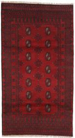 Afghan Teppe 102X188 Ekte Orientalsk Håndknyttet Mørk Rød/Rød/Mørk Brun (Ull, Afghanistan)