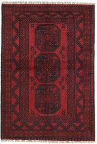 Afgan Dywan 95X144 Orientalny Tkany Ręcznie Ciemnoczerwony/Czarny (Wełna, Afganistan)