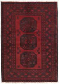 Afghan Teppich  100X146 Echter Orientalischer Handgeknüpfter Dunkelrot/Schwartz (Wolle, Afghanistan)