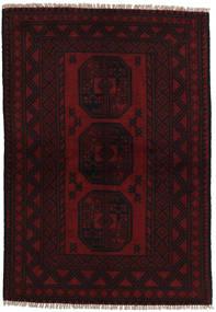 Afghan Matto 98X145 Itämainen Käsinsolmittu Tummanruskea/Tummanpunainen (Villa, Afganistan)