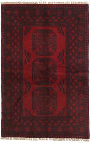 Afghan Rug 95X147 Authentic  Oriental Handknotted Dark Brown/Dark Red (Wool, Afghanistan)