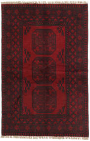 Afghan Teppich 95X147 Echter Orientalischer Handgeknüpfter Dunkelbraun/Dunkelrot (Wolle, Afghanistan)