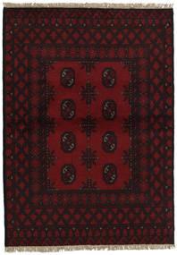 Afghan Matto 100X141 Itämainen Käsinsolmittu Tummanruskea/Tummanpunainen (Villa, Afganistan)