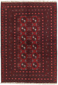 Afghan Rug 98X143 Authentic  Oriental Handknotted Dark Red/Dark Brown (Wool, Afghanistan)