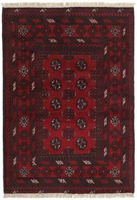 アフガン 絨毯 99X144 オリエンタル 手織り 濃い茶色/深紅色の (ウール, アフガニスタン)