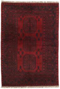 アフガン 絨毯 97X143 オリエンタル 手織り 深紅色の/濃い茶色 (ウール, アフガニスタン)