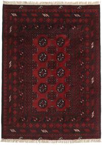 Afegão Tapete 99X139 Oriental Feito A Mão Castanho Escuro/Vermelho Escuro (Lã, Afeganistão)