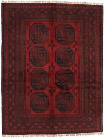 Afghan Rug 146X189 Authentic  Oriental Handknotted Dark Red/Dark Brown (Wool, Afghanistan)