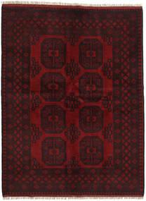 Afghan Matta 147X195 Äkta Orientalisk Handknuten Mörkbrun/Mörkröd (Ull, Afghanistan)
