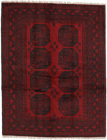 Afghan Rug 146X189 Authentic  Oriental Handknotted Dark Red/Dark Brown (Wool, Afghanistan)