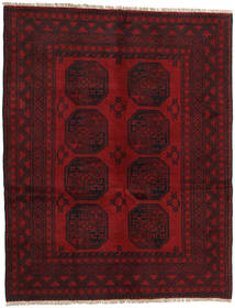 Afghan Rug 147X189 Authentic  Oriental Handknotted Dark Red/Dark Brown (Wool, Afghanistan)