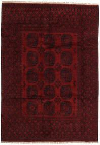 Afghan Matto 199X282 Itämainen Käsinsolmittu Tummanpunainen (Villa, Afganistan)