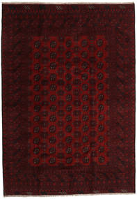 Afghan Rug 199X284 Authentic Oriental Handknotted Dark Brown/Dark Red (Wool, Afghanistan)