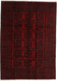 Afghan Rug 205X288 Authentic  Oriental Handknotted Dark Brown/Dark Red (Wool, Afghanistan)