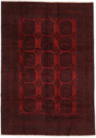 Afghan Matto 200X288 Itämainen Käsinsolmittu Tummanpunainen (Villa, Afganistan)