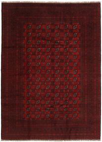 Afegão Tapete 204X279 Oriental Feito A Mão Castanho Escuro/Vermelho Escuro (Lã, Afeganistão)
