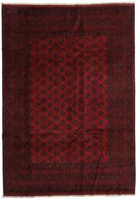 Afghan Rug 202X288 Authentic Oriental Handknotted Dark Brown/Dark Red (Wool, Afghanistan)