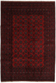 Afghan Matto 197X285 Itämainen Käsinsolmittu Tummanpunainen (Villa, Afganistan)