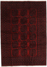 アフガン 絨毯 203X286 オリエンタル 手織り 深紅色の (ウール, アフガニスタン)