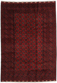 Afghan Rug 202X283 Authentic  Oriental Handknotted Dark Red/Dark Brown (Wool, Afghanistan)