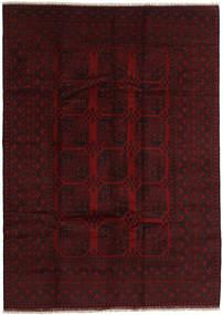 Afghan Rug 205X287 Authentic  Oriental Handknotted Dark Brown/Dark Red (Wool, Afghanistan)