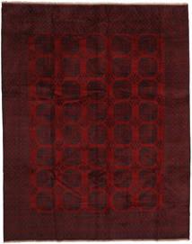 Afghan Vloerkleed 304X380 Echt Oosters Handgeknoopt Donkerbruin/Donkerrood Groot (Wol, Afghanistan)