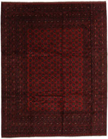 Afghan Rug 306X384 Authentic  Oriental Handknotted Dark Brown/Dark Red Large (Wool, Afghanistan)